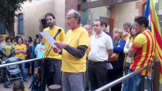 preview picture of video 'Concentració a Sant Julià de Vilatorta en favor de la consulta 9N'