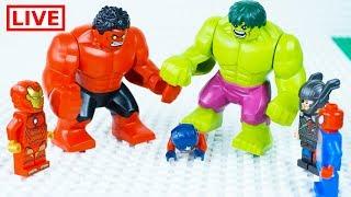 LEGO Superheroes LIVE 🔴 STOP MOTION LEGO Hulk Ultimate Rage   LEGO Hulk   By Billy Bricks