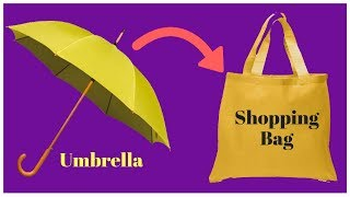 Shrinkable Shopping Bag Made Out Of Umbrella Fabric | Recycling