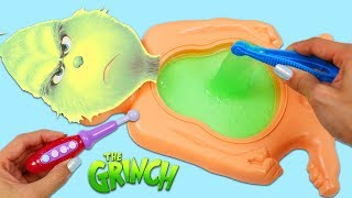 Dr. Suess The Grinch Has Green Slime Belly Full of Surprise Toys!