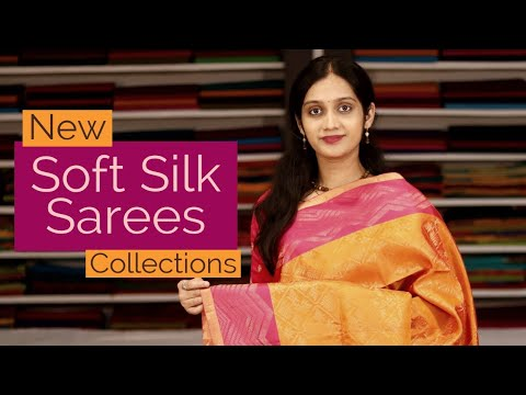 """<p style=""""color: red"""">Video : </p>NEW SOFT SILK SAREES COLLECTION"""