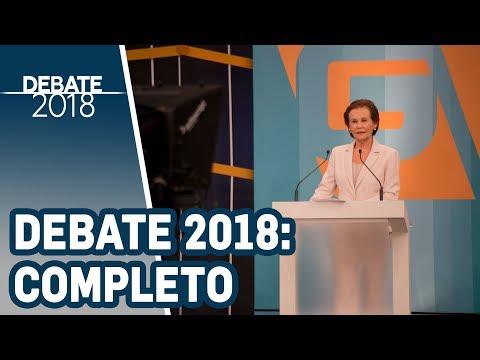 Debate 2018 | TV Gazeta - Governo de São Paulo - 1º Turno (Completo)