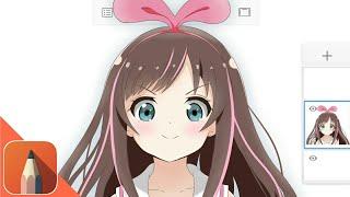 SpeedPaint 】Tsushima Yoshiko Autodesk Sketchbook Android Anime