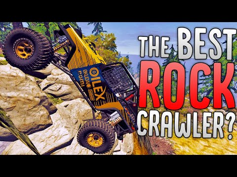 Driving Over Dangerous Terrain In BeamNG's Best Rock Crawler - New Vehicle! - BeamNG Drive