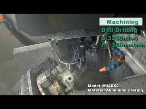 M140X2 Machining example (Aluminum casting)
