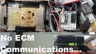 Vauxhall/Opel Corsa D Z14XEP no start. No ECM communications. Fault finding and repair.