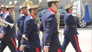 The Royal Guard parade in Escorial monastery castle,Madrid | Kholo.pk