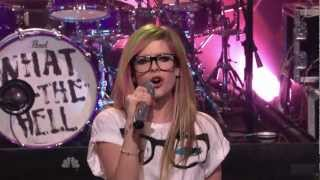 Avril Lavigne - What The Hell @ The Tonight Show Jay Leno 14/03/2011