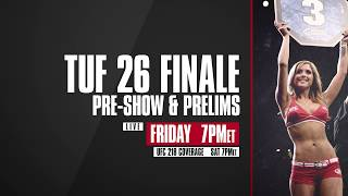 TUF 26 Prelims LIVE Fri., Dec. 1 at 8 p.m. ET in Canada on Fight Network