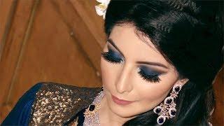 Wedding Reception Makeup - Blue Sparkle Look