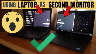 How to use a Laptop a Second Monitor