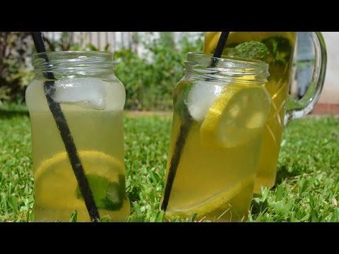 Te helado y Te verde, limón y menta