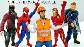 Master Toc-Toc №8 - Déballage des héros de Marvel : Pluie