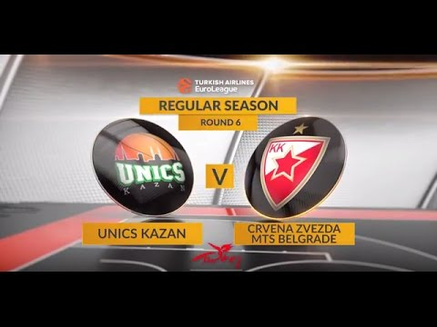 EuroLeague Highlights RS Round 6: Unics Kazan 65-62 Crvena Zvezda mts Belgrade
