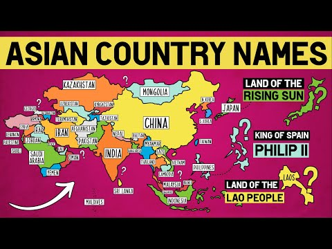 How Did Asian Countries Get Their Names?