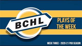 BCHL Plays of the Week: 2020-21 Week Three