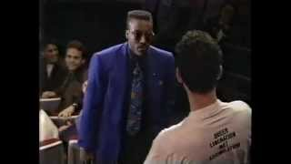 Arsenio Hall stands his ground against protesters; supports gay guests.