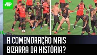 Jogador levanta o calção e passa dos limites em comemoração na Copa Verde!