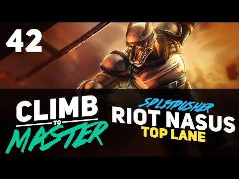 Splitpusher RIOT NASUS - Climb to Master - Episode 42