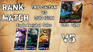 Penjahat ft. Fredo and Soloz meet Syno and Unta in rank   Penjahat Gusion Gameplay
