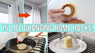 15 *NEW* LIFE CHANGING HOME HACKS & GADGETS!