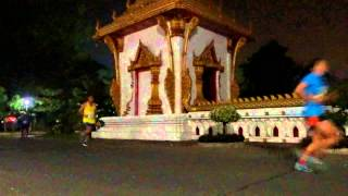 preview picture of video '2015 Khon Kaen marathon passage @ Wat Nong Waeng in Thailand'