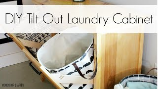 How To Build A Tilt Out Laundry Cabinet