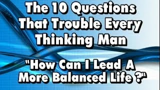 How can I lead a more balanced life?