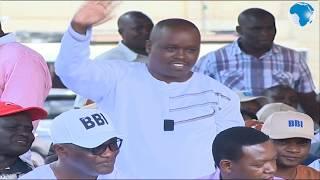 Governor Oparanya acknowledges Governor's present at the BBI Meru