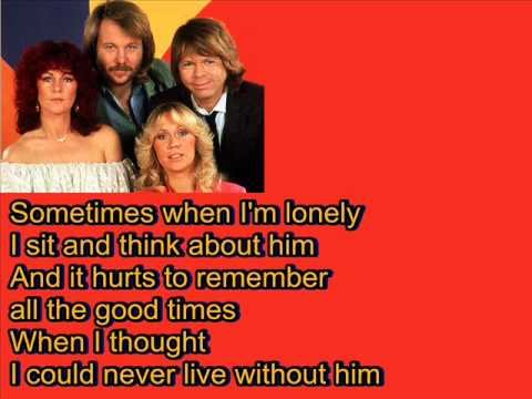 ABBA-Angeleyes (Lyrics)