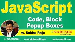 JavaScript Code, Block, Popup Boxes | JavaScript Tutorial | Mr. Subba Raju