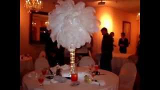 Masquerade Themed Sweet 16 Centerpieces In Gold & White By Sweet 16 Candelabras