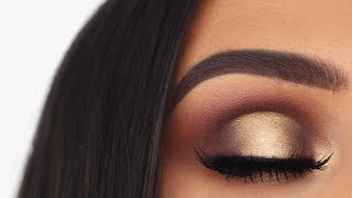 Soft Glam Gold Grungy Halo Eye | Makeup Tutorial