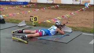 В Пестове прошли Межрегиональные соревнования по летнему пневматическому биатлону