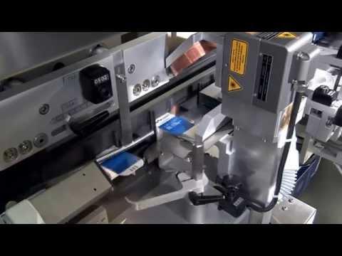Laserbeschriftung von Faltschachteln mit D620i Laser-Codierer - integriert in einen Kartonierer C 2155 von Uhlmann