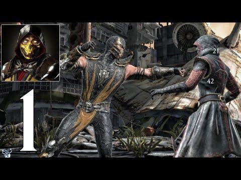 Mortal Kombat Mobile - Gameplay Walkthrough Part 1 - Scorpion