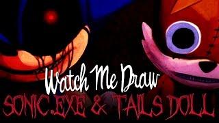 how to draw sonic exe and tails doll - Kênh video giải trí dành cho