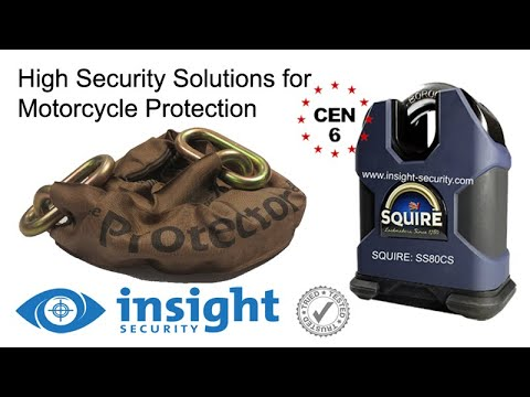 Protector 19mm Chain and Squire SS80CS Padlock in use