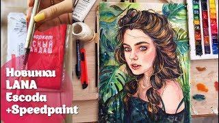 Новинки: Бумага Lana| Кисть Escoda+ CПИДПЕЙНТ/Watercolor Speedpaint+New art supplies