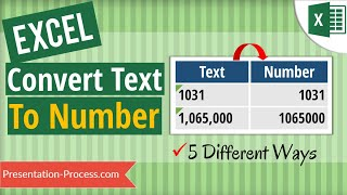 How to Convert Text to Numbers in Excel (5 Ways!)