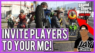 GTA Online - How To Invite Players To Your MC - How To Set Players As Vice President, Captain Etc.