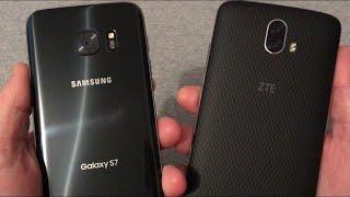 Samsung Galaxy S7 vs ZTE Blade V8 Pro Speed Test Comparison