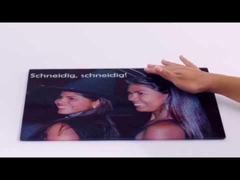 Foto-Glasschneidebrett
