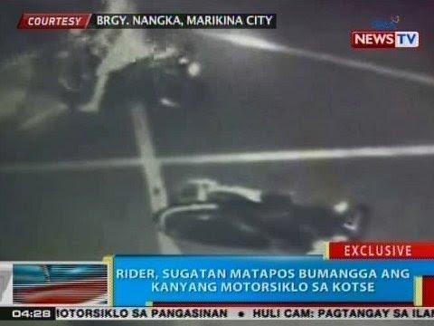 [GMA] BP: Rider, sugatan matapos bumangga ang kanyang motorsiklo sa kotse