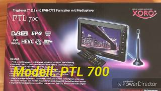 DVB-T2 Portable Mini Tv  | 18 cm Diagonale