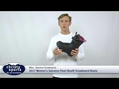 2017 Salomon Pearl Boa Women's Snowboard Boots Review