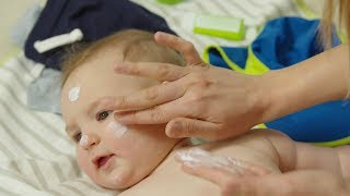 How to put sunscreen on a baby