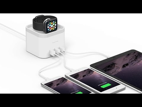mbeat PowerTime Apple Watch® Charging Dock with 3-Port USB Charger