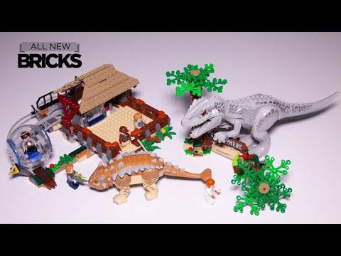 Vidéo LEGO Jurassic World 75941 : L'Indominus Rex contre l'Ankylosaure