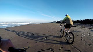 Fat Tire Biking from Siletz Bay to Safari Town Surf Shop in 2.5 Minutes.